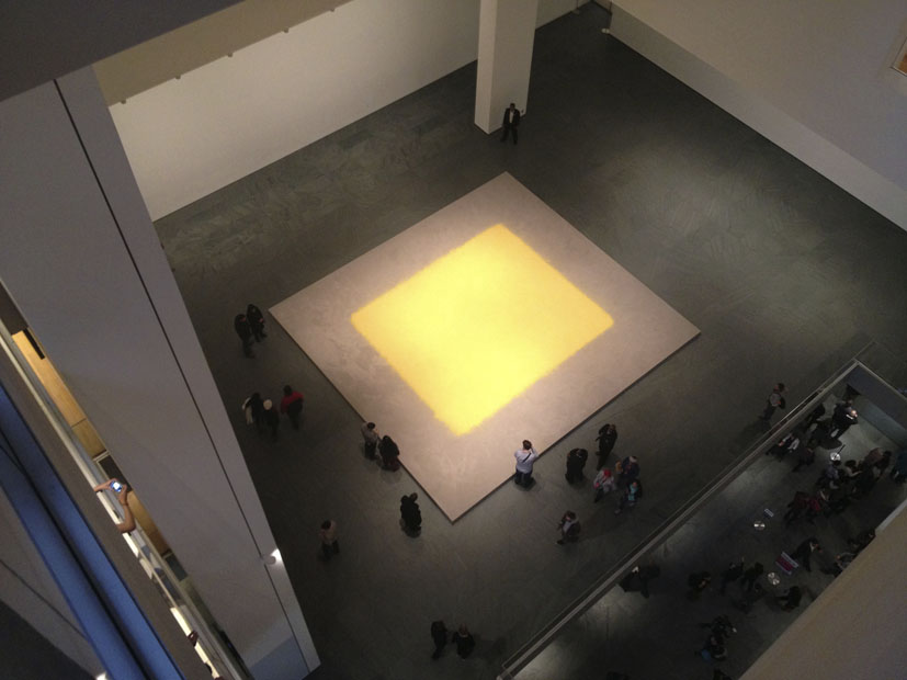 Wolfgang Laib, Pollen from Hazelnut. MoMA, Februar 2013.